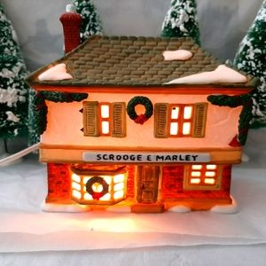 """Dept 56 """" Scrooge and Marly Counting House"""""""